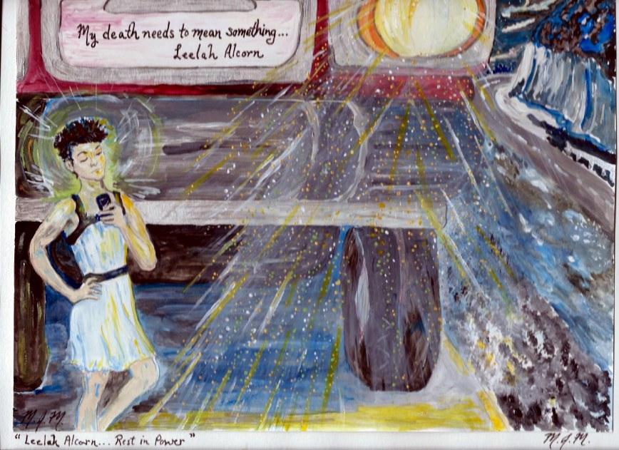 Marius Mason's painting of trans teen suicide victim Leelah Acorn